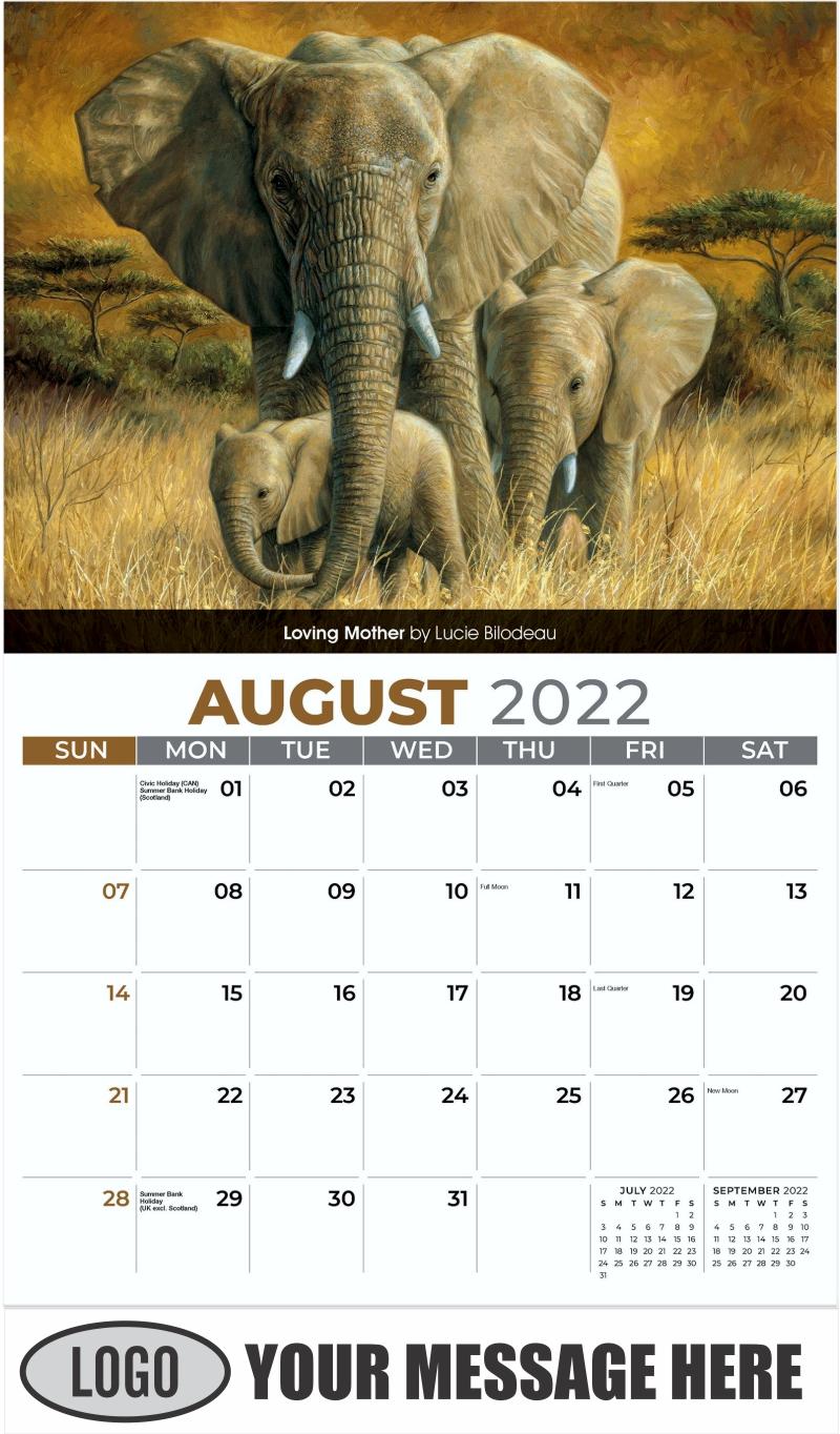 Loving Mother by Lucie Bilodea u - August - Wildlife Portraits 2022 Promotional Calendar