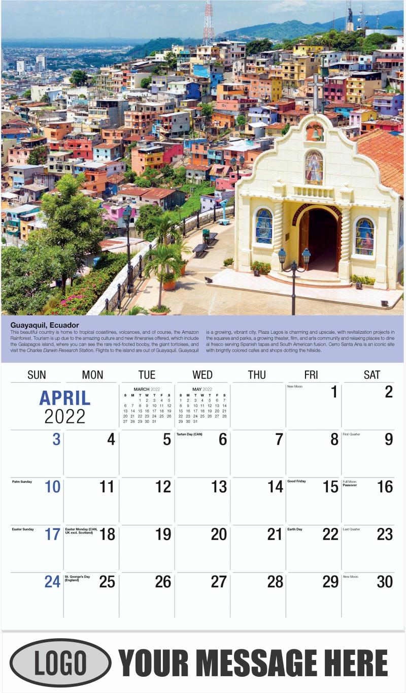 Ecuador - April - World Travel 2022 Promotional Calendar
