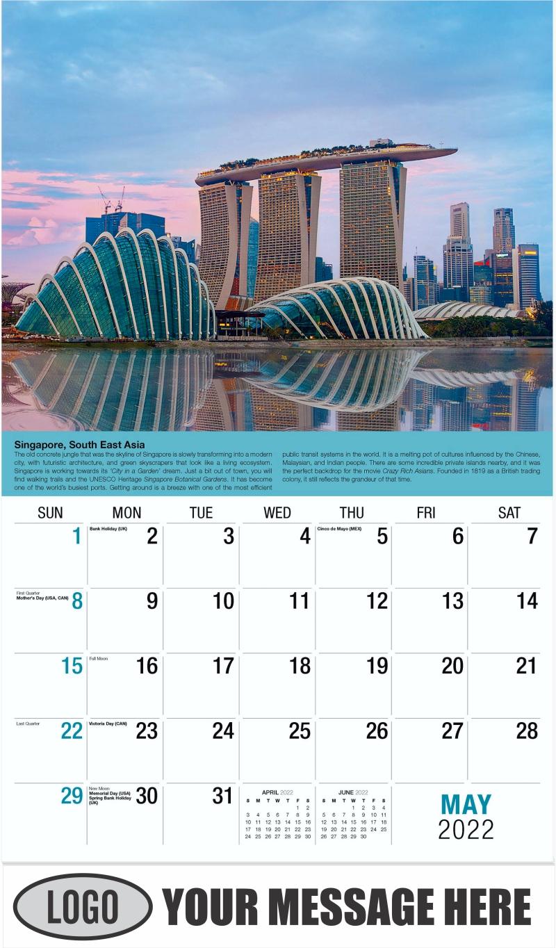 Singapore - May - World Travel 2022 Promotional Calendar