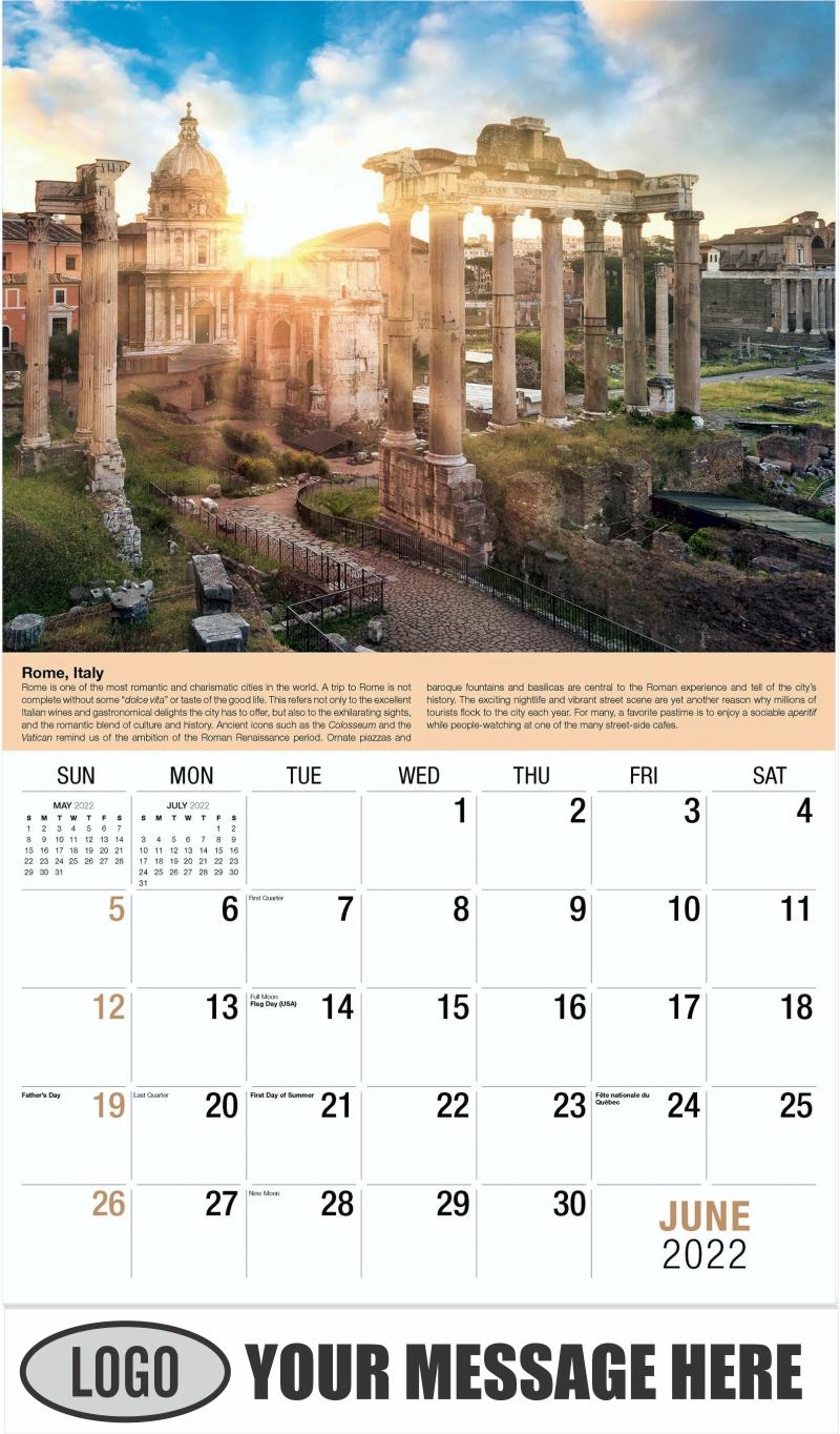 Rome - June - World Travel 2022 Promotional Calendar