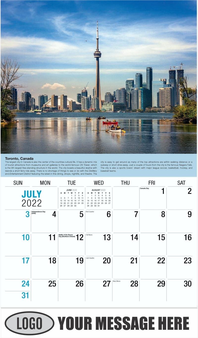 Toronto - July - World Travel 2022 Promotional Calendar