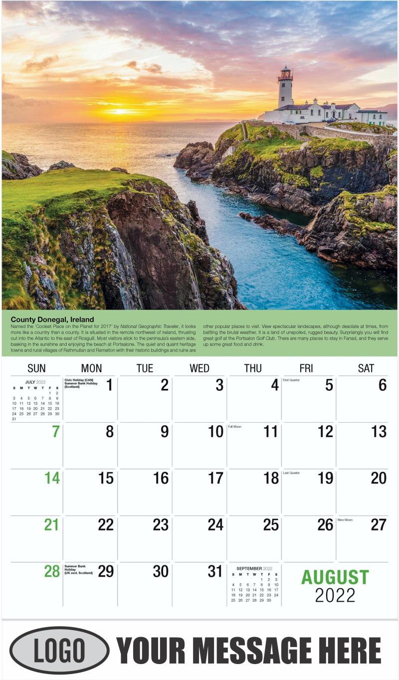 Ireland - August - World Travel 2022 Promotional Calendar