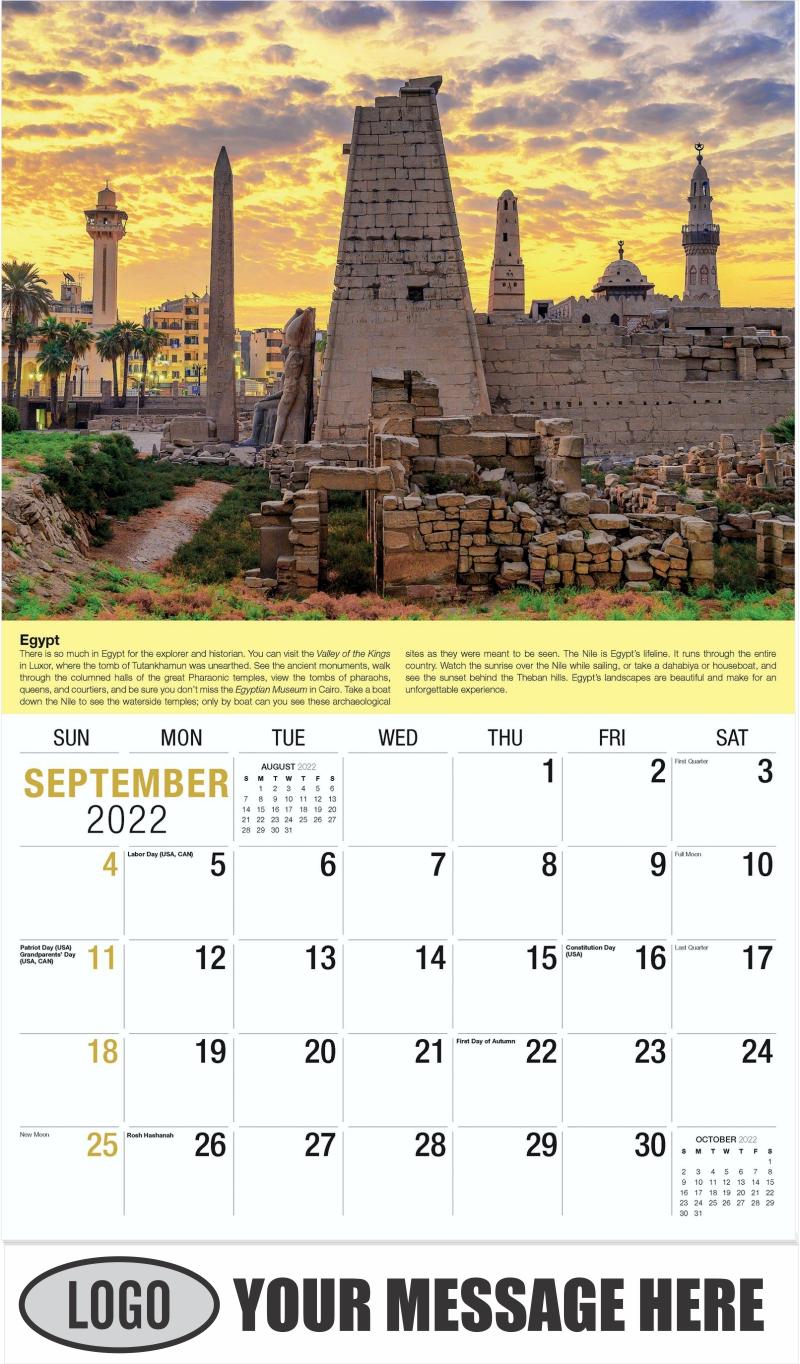 Egypt - September - World Travel 2022 Promotional Calendar