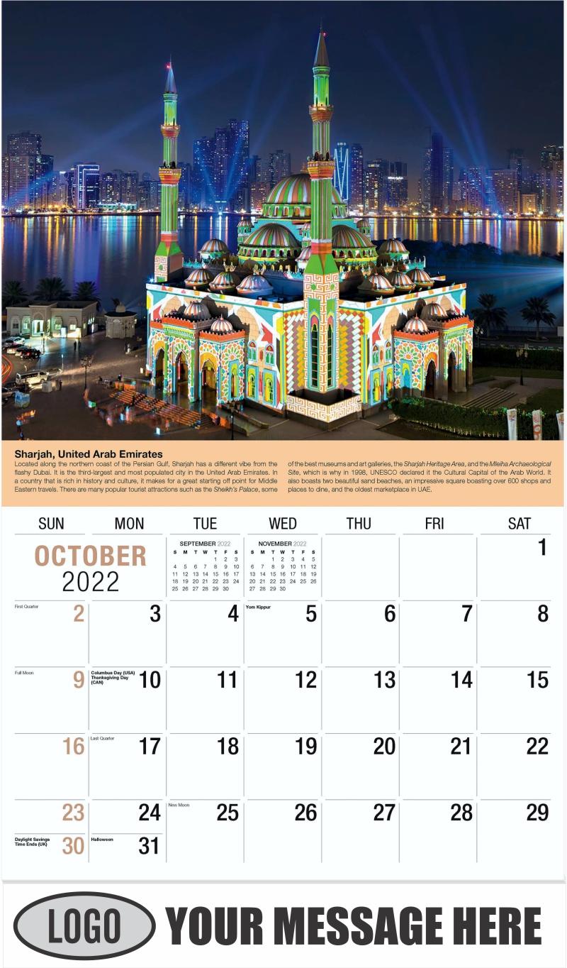 UAE, West Asia - October - World Travel 2022 Promotional Calendar