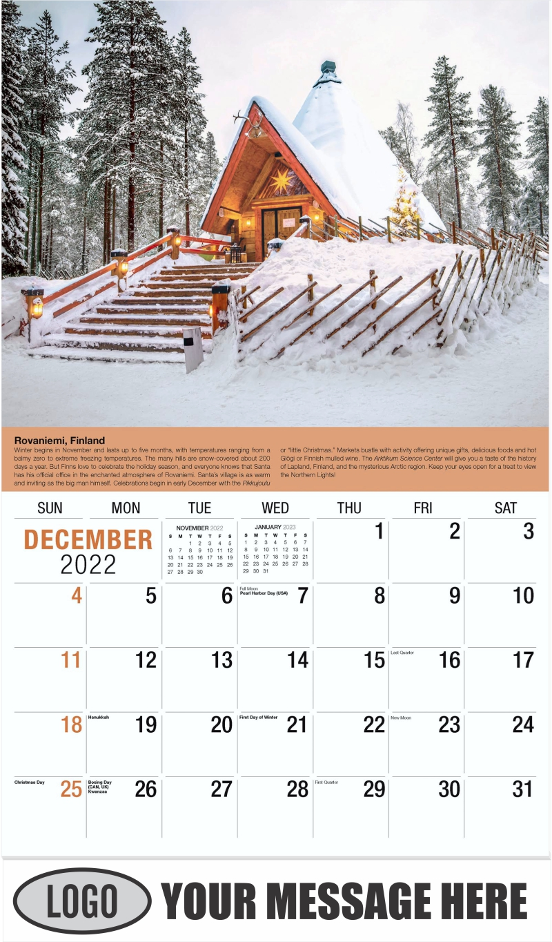 Finland - December 2022 - World Travel 2022 Promotional Calendar