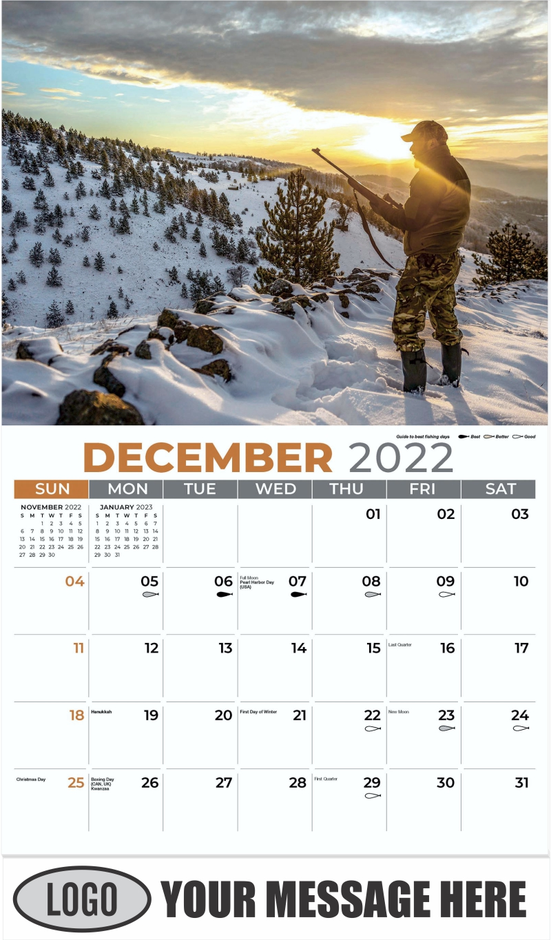 Hunter Fall 2022 Calendar.2022 Promotional Advertising Calendar Fishing And Hunting Low As 65