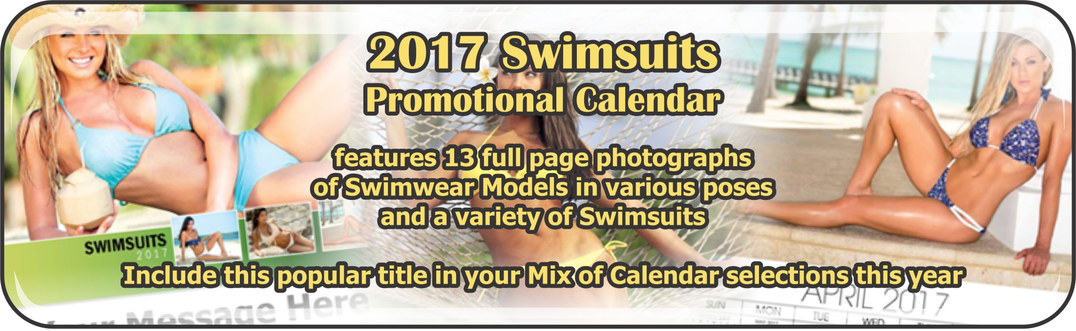 Promotional Calendars Direct featured Wall Calendar for Swimsuits