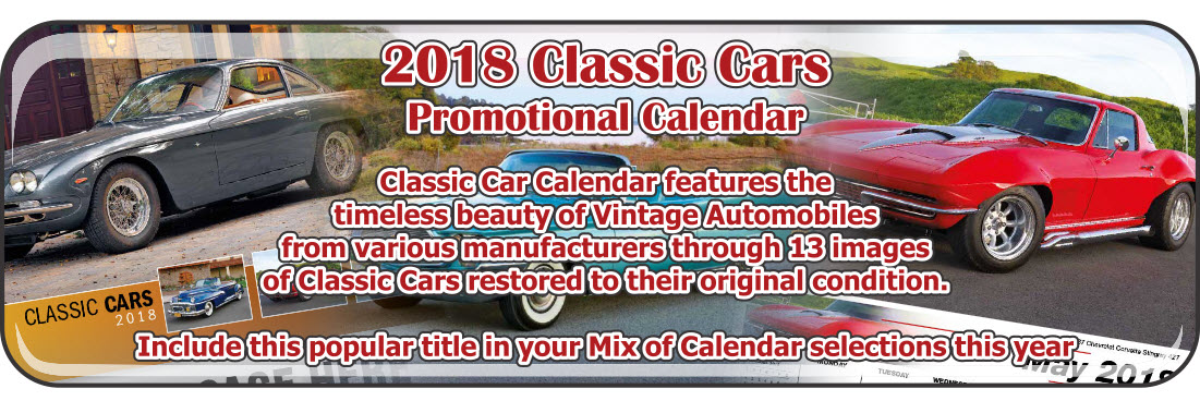 Promotional Calendars Direct featured Wall Calendar for Classic Cars