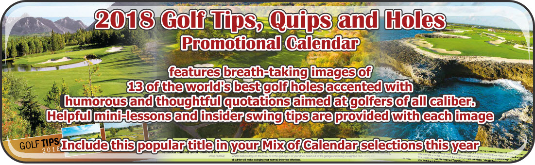 Promotional Calendars Direct featured Wall Calendar for Golf Tips