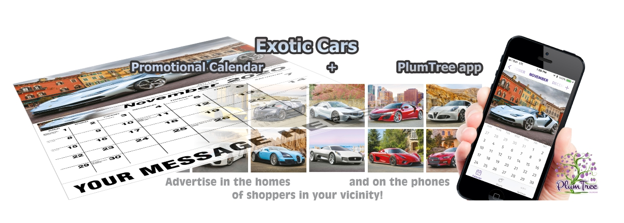 Promotional Calendars Direct featured Wall Calendar for Exotic Cars