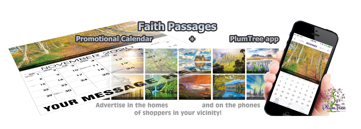 Promotional Calendars Direct featured Wall Calendar for Faith Passages