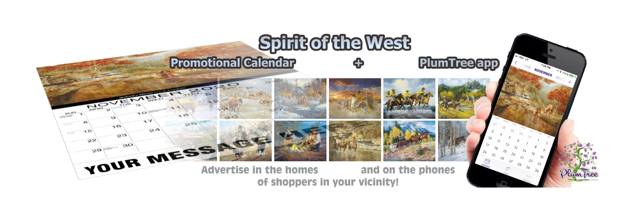 Promotional Calendars Direct featured Wall Calendar for Spirit of the West