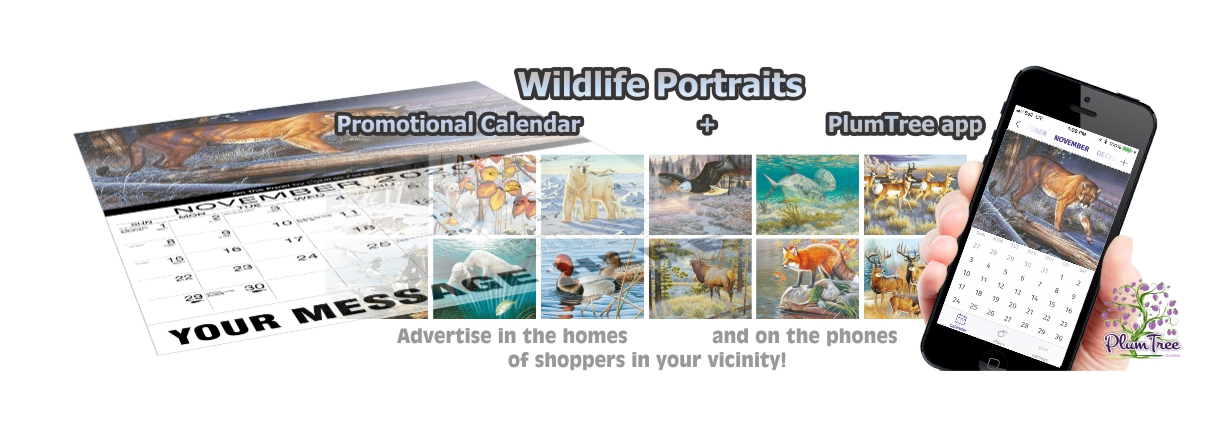 Promotional Calendars Direct featured Wall Calendar for Wildlife Portraits