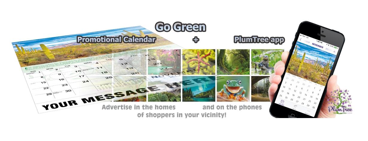 Promotional Calendars Direct featured Wall Calendar for Go Green